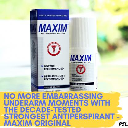 Maxim Original Antiperspirant Philippines Banner